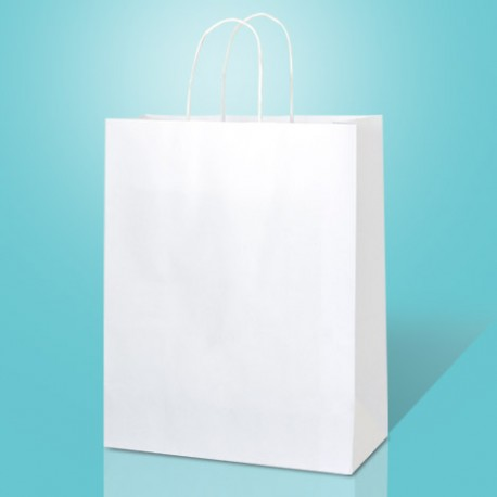 Paper Carrier Bags with Twisted Handles. 110-120gsm