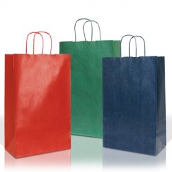 Coloured Paper Bags with Twisted Handles