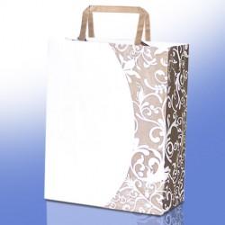 Sacchetti Shopper Eco Art metallizzato Kraft Bianco