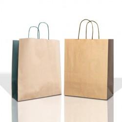 Two Colour Paper Bags with Twisted Handles