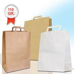 110gsm Paper Carrier Bags with Flat Handles