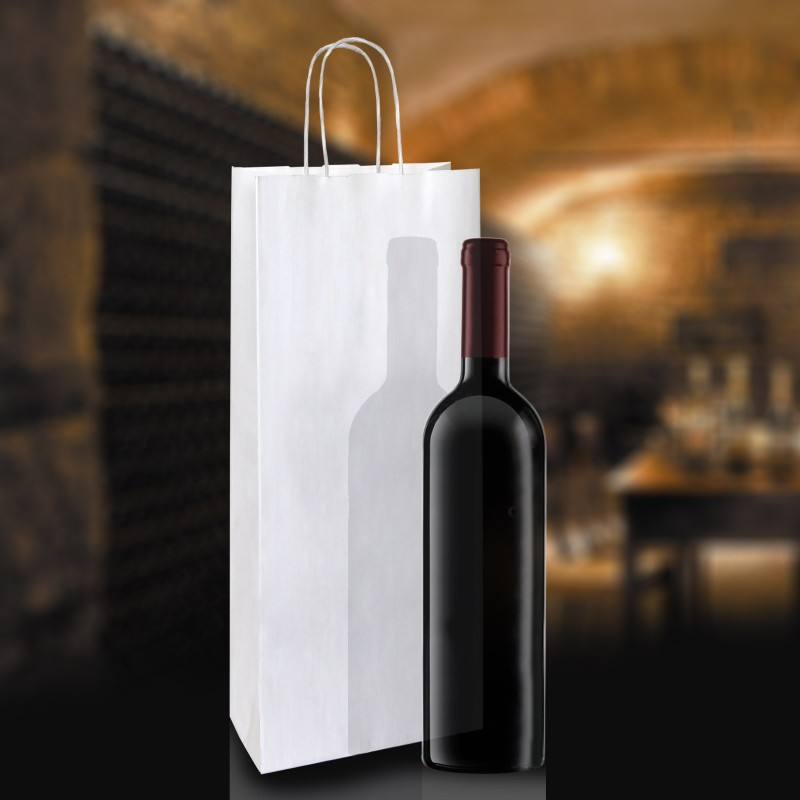 Paper Bottle Bags With Twisted Handles