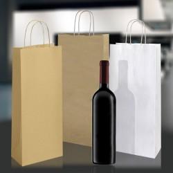Porta Bottiglia Cordino Bianco Kraft, Avana Sealing Liscio o Ruvido